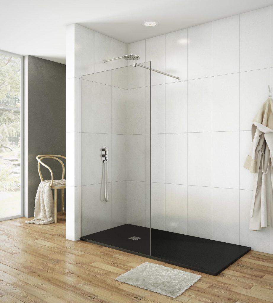 Panel fijo de ducha Screen de estilo minimalista y acabado transparente