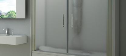 Frontal de bañera de dos puertas abatibles