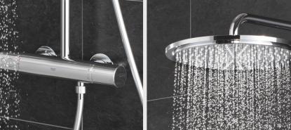 Termostato y rociador de ducha del sistema Rainshower de Grohe