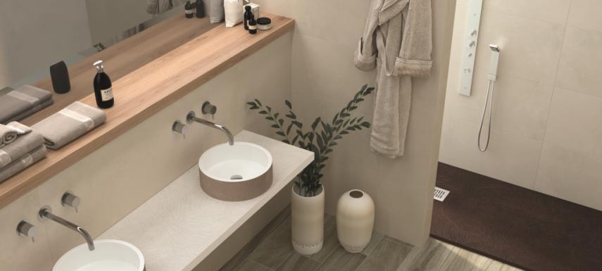 Baño con plato de ducha de la marca Nudespol