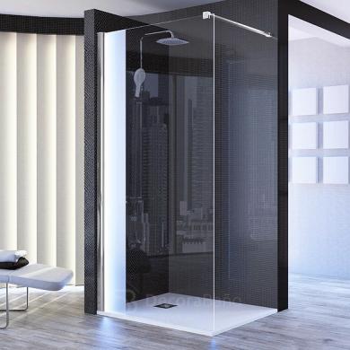 Mampara fija de ducha con luces led incorporadas