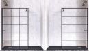 Mamparas de ducha de perfil negro de Doccia