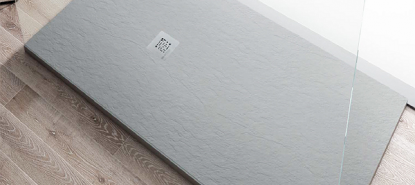 Plato de ducha moderno de resina Strato antideslizante