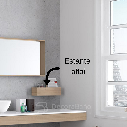 Estante Altai de Viso Bath wildwood