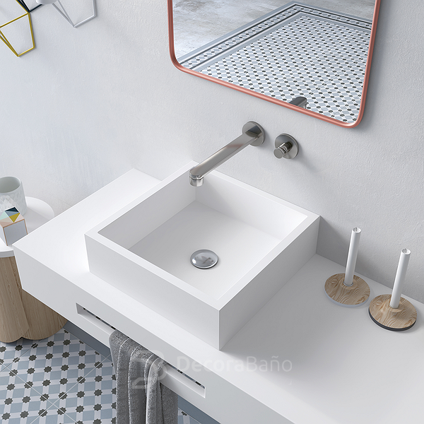 Lavabo sobre encimera Solid Surface Quadro Decorabaño AS
